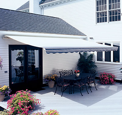 large awning -Vista by SunSetter Awnings. Installed